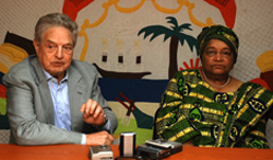 Mr. George Soros and President Ellen Johnson Sirleaf.