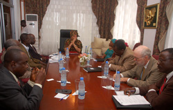 President Sirleaf in consultations with University Presidents