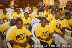 Some young Liberians during the launching program.