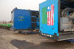 The generators presented by the Libyan Government.