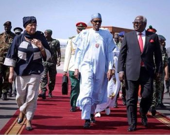 ECOWAS Special Mission led by President Sirleaf arrives in Banjul, The Gambia.