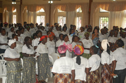 A cross-section of women at the program.