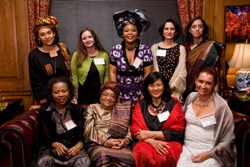 President Sirleaf with members of the Global Fund for Women