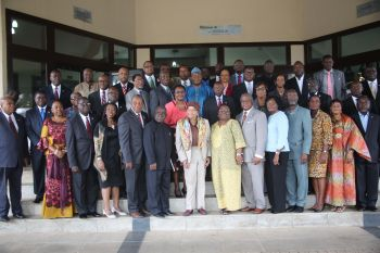 Group Photo with President Sirleaf,  Liberian Ambassadors and Heads of Diplomatic Missions.