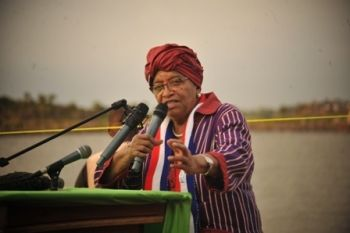 President Sirleaf Departs for the United States of America.