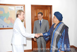 President  Sirleaf welcomes incoming SRSG