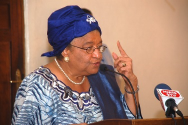 President Sirleaf makes remarks at APNAC launch
