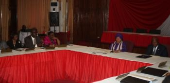 President Ellen Johnson Sirleaf joined by VP Boakai at Cabinet Meeting.