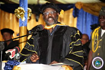 President George Weah at CU Graduation