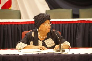 President Sirleaf Chairs Cabinet Meeting.