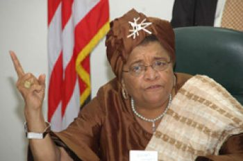 President Sirleaf Off to UN General Assembly.