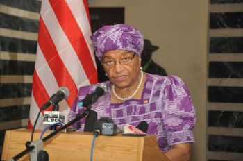 President Sirleaf addresses the Nation on the fight against the Ebola Viral Disease.