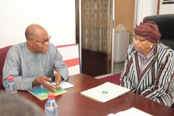 President Sirleaf and Dr. Chambas hold discussions on the general security situation in the sub-region.