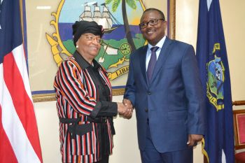 President Sirleaf and Prime Minister Umaro El Mokhtar Sissoco Embalo of Guinea Bissua.