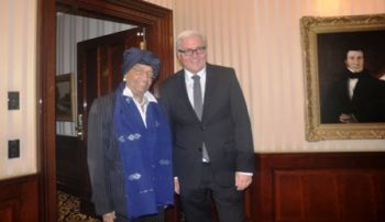 President Sirleaf and the German Foreign Minister  Steinmeier