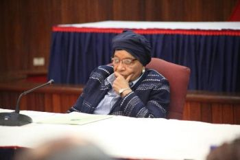 President Sirleaf chairs Regular Cabinet meeting.