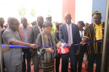 President Sirleaf cuts ribbon to newly renovated LBS