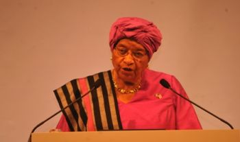 President Sirleaf delivers the Keynote Address at WAW 2015