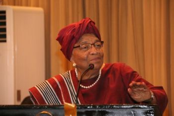 President Sirleaf makes remakes at Tubman University's Capital  Fundraiser.