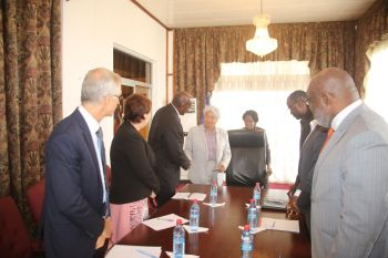 President Sirleaf receives World Bank Country Director - Henry Kerali and delegation.