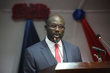 President Weah poise as he addresses the 54th Legislature in a Joint Assembly, on the State of the Republic.