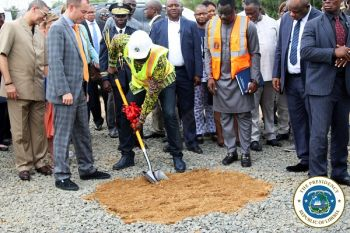President Weah Breaks Ground for US$18m Water Project