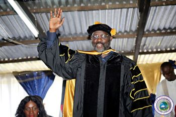 President Weah Recieves Honorary Doctorate Degree