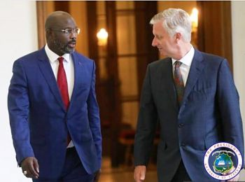 President Weah meets King Philippe of Belgium