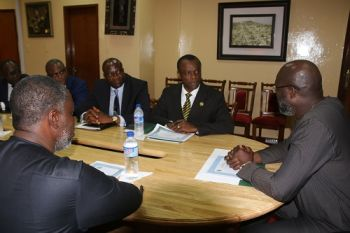 President Weah speaking during the meeting with members of the Liberia Bankers Association
