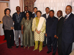 President Sirleaf and members of the Presidential Committee on ICT.