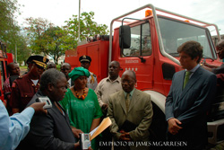 In furtherance of its development assistance to Liberia, the Spanish Government has donated two fire trucks to the country.