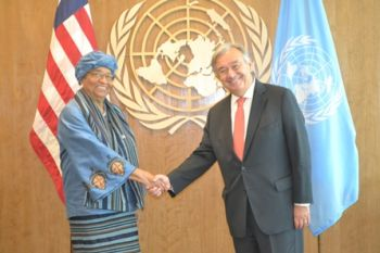 President Sirleaf Attends Education Funders Breakfast Event in New York;