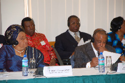 President Ellen Johnson Sirleaf at the African Partnership Conference in Accra, Ghana.