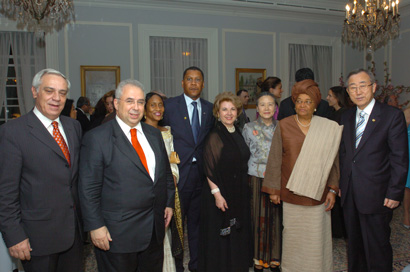 President Ellen Sirleaf, UN Secretary General Ban Ki-moon, Greek's permanent representative to the UN, among others.