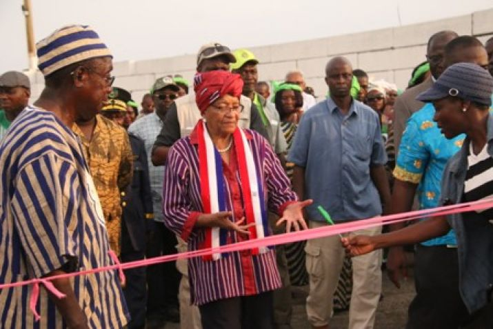 President Sirleaf Commissions Four Marine Crafts.