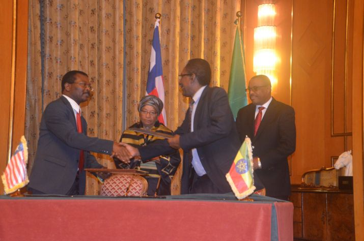 Liberia-Ethiopia Sign MOU Covering Education, Livestock, Fisheries, Health.