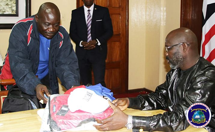 Liberia National Olympic Committee Pays Courtesy Call on President Weah