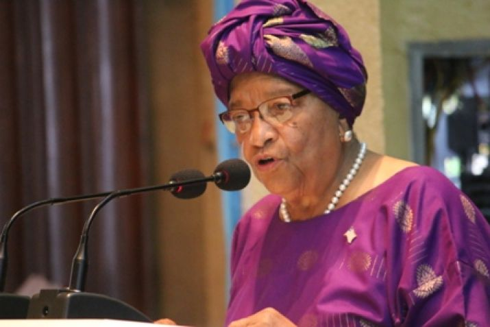 President Sirleaf makes remarks at   Liberia Zero Hunger Strategic Review Report and Home-Grown School Feeding   Program.