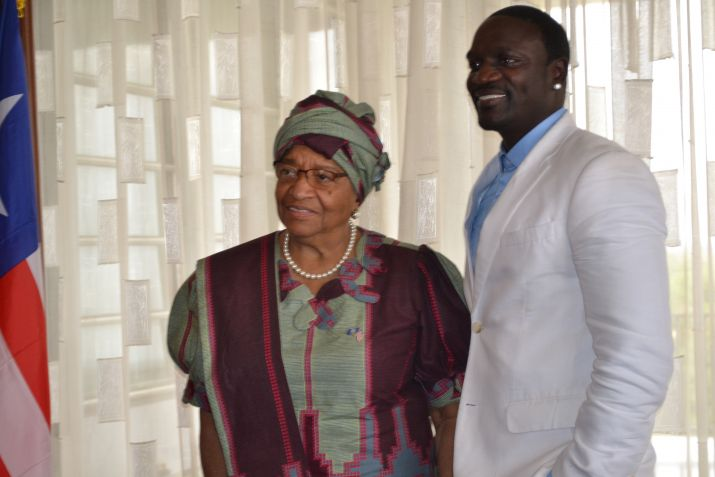 President Sirleaf Commends Liberians for Contributions to 13 Years of Sustained Peace; Pays Host to American Hip-hop Star Akon