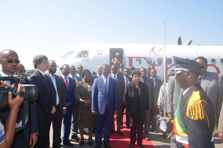 President Sirleaf Visits Hawassa Industrial Park in the Southern Nations, Nationalities and People's Region of Ethiopia.