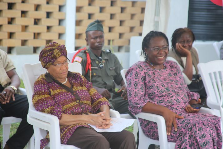 President Sirleaf Dedicates Waterfield Primary Healthcare Center Lab in Kakata