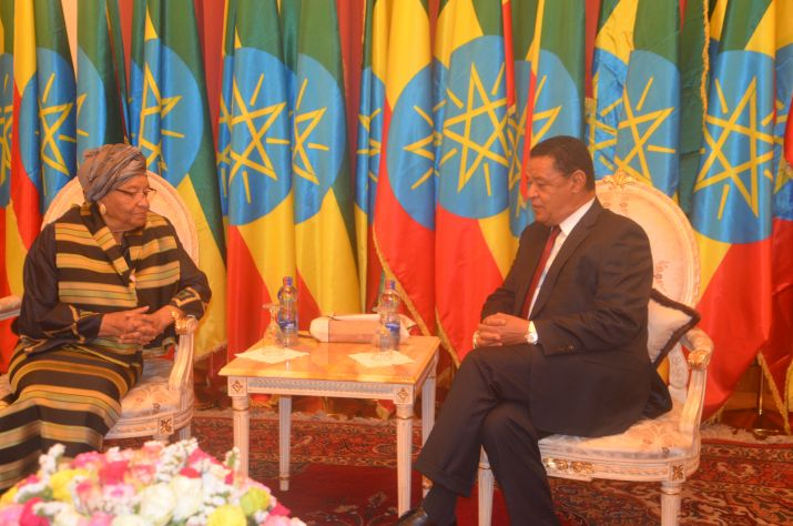 President Sirleaf Lauds Ethiopia for Unprecedented Transformation.