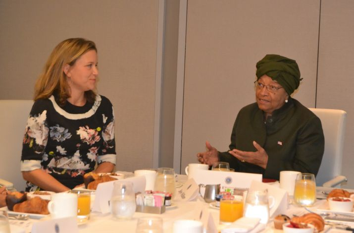 On the Margins of the 71st Session of the UN General Assembly, President Sirleaf holds Breakfast Events for President�s Young Professionals Program (PYPP)