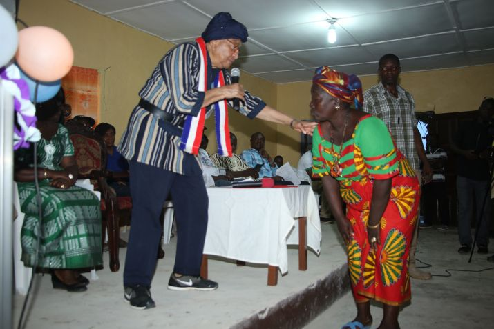 President Sirleaf Arrives in Bong County; Dedicates Several Development Projects
