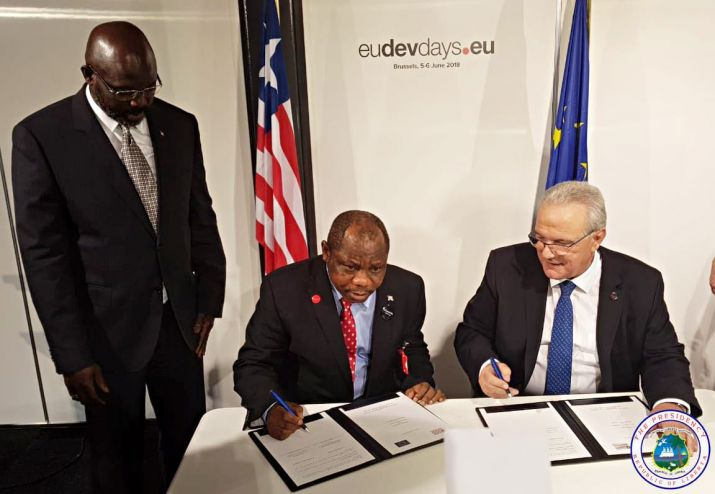 President Weah's Europe Trip Pays Off; GoL, EU Sign 'Moving Liberia Forward Partnership Agreement'