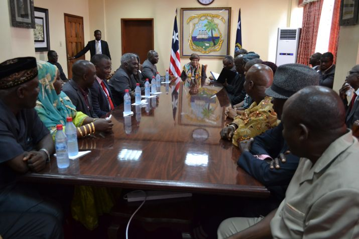 President Sirleaf Receives Speaker Nuquay, House Leadership; Assures Cooperation in Advancing Liberia�s Development Goals.