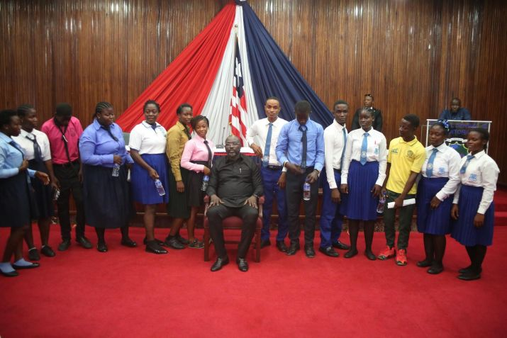 12th Graders Salute President Weah; Reaffirms Commitment to Quality Education