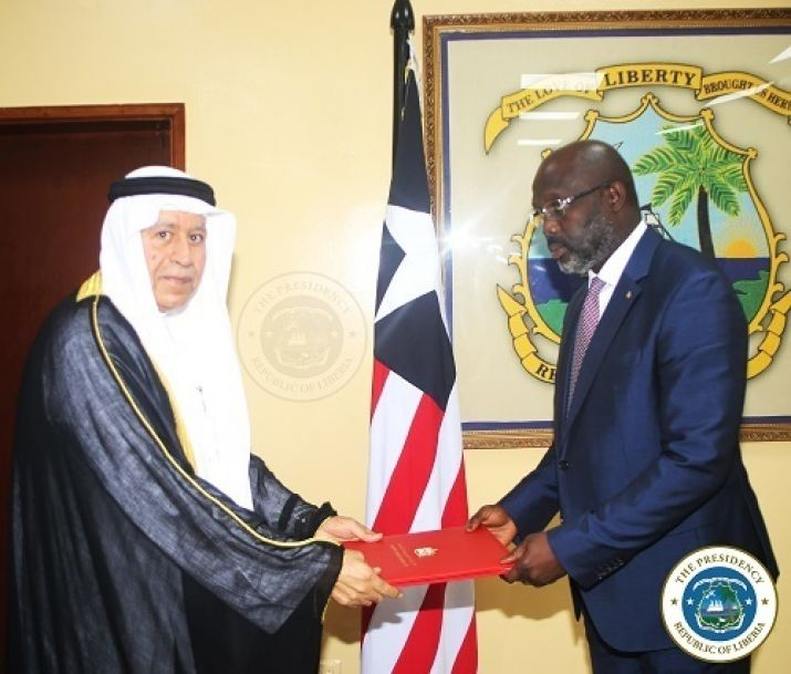 United Arab Emirates Ambassador presents his letter of Credence to the Liberian Chief Executive