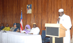 The chairman of the Liberia National Hujjaj Committee, Sheikh Abubakar M.D. Sumaworo.