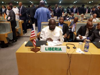 President George Manneh Weah maiden appearance the 30th Ordinary Session of the of the African Union